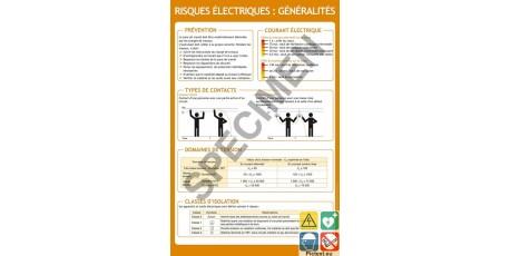 Panneau formation généralités sur les risques électriques