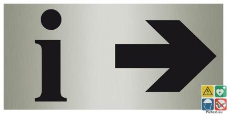 Panneau information directionel