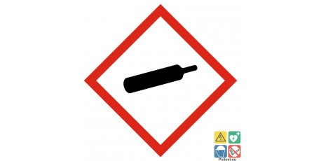 Picto gaz sous pression classe de danger