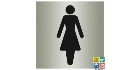 Pictogramme toilettes femmes finition métal