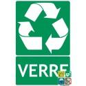 Panneau recyclage verre