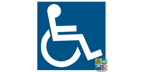 Pictogramme handicapés PMR