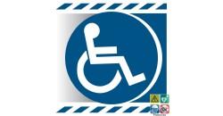 Pictogramme handicapés PMR gamme xénon