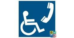 Pictogramme téléphone accessible aux handicapés