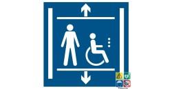 Panneau ascenseur accessibilité handicapés