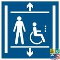 Picto ascenseur accessible PMR