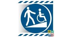 Picto rampe d'accès pour handicapés gamme xénon