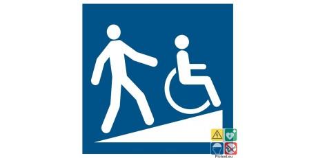 Picto rampe d'accès pour handicapés PMR
