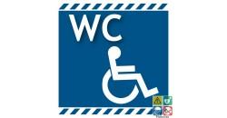 Panneau wc handicapés