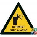 Panneau bâtiment sous alarme