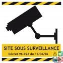 Panneau site sous surveillance vidéo