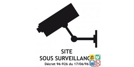 Picto site sous surveillance vidéo décret