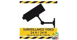 Panneau surveillance vidéo 24/24