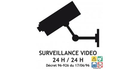 Picto surveillance vidéo 24H sur 24H
