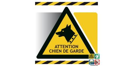 Panneau d'avertissement attention chien de garde
