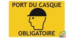 Panneau de chantier port du casque obligatoire