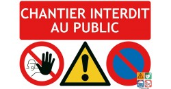 Chantier interdit au public 3 pictos
