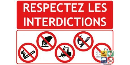Respectez les interdictions sur chantier