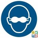 Picto lunettes de protection opaques obligatoires