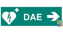 Défibrillateur DAE vers la droite