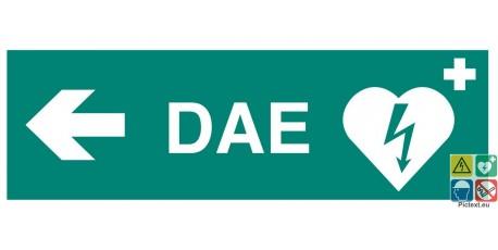 Défibrillateur DAE vers la gauche