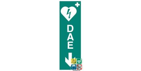 Défibrillateur DAE vers le bas