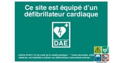 Affiche normalisée défibrillateur cardiaque