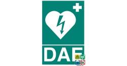 Panneau DAE défibrillateur cardiaque normalisé