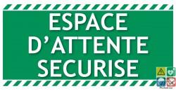 Panneau espace d'attente sécurisé