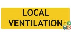 Local ventilation panneau de localisation