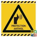Panneau protection antivol