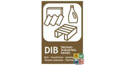 Panneau tri sélectif DIB Déchets Industriels Banals
