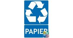 Panneau recyclage papier