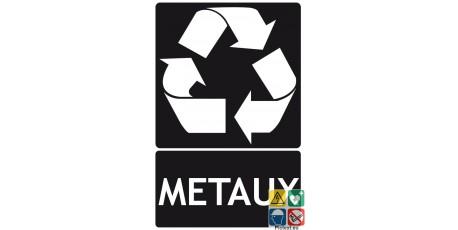 Panneau recyclage métaux