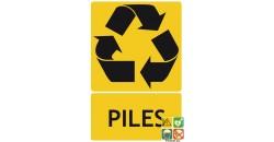 Panneau recyclage piles