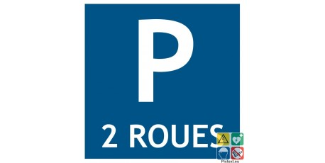 Pictogramme parking 2 roues