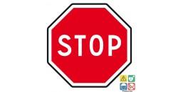 Panneau stop pour circulation privée