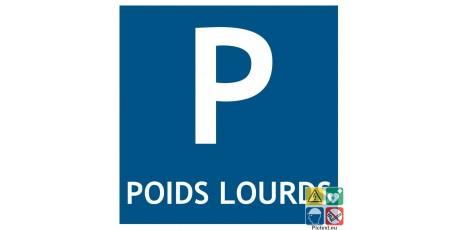 Pictogramme parking poids lourds