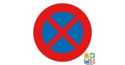 Panneau interdit de s'arrêter et stationner