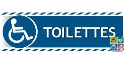 Panneau toilettes handicapés PMR