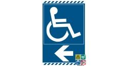 panneau accès handicapés vers la gauche gamme laser