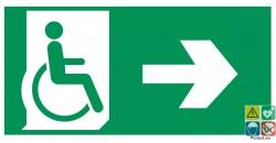 Evacuation PMR vers la droite