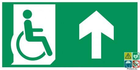 Evacuation PMR devant ou vers l'avant