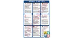 Consigne de sécurité 9 langues