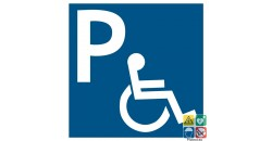 Pictogramme parking handicapés PMR