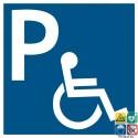 Pictogramme parking handicapés PMR