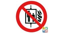 Picto interdiction d'utiliser l'ascenseur en cas d'incendie