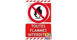 Panneau toutes flammes interdites gamme xénon