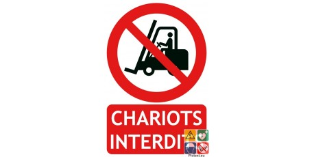Panneau chariots interdits