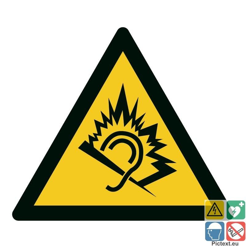 pictogramme danger d251 au bruit choix taille et mati232re 224
